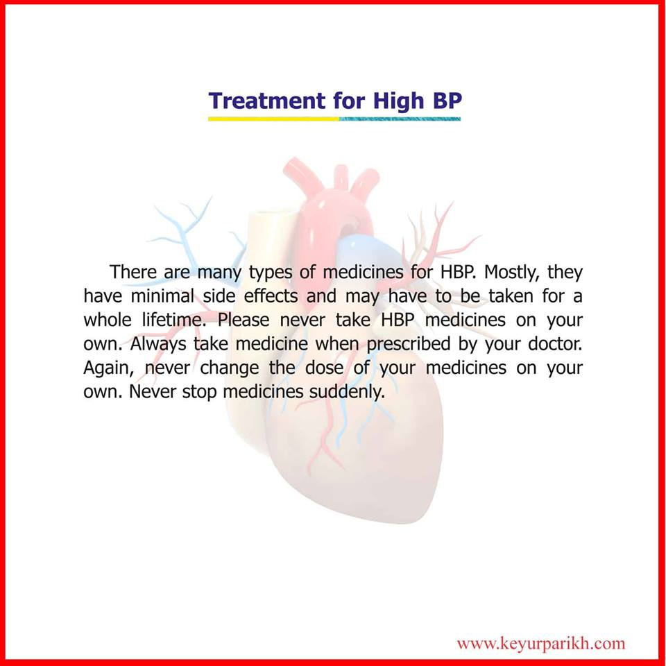 Treatment for HBP.