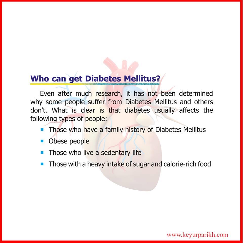 Who can get diabetes mellitus?