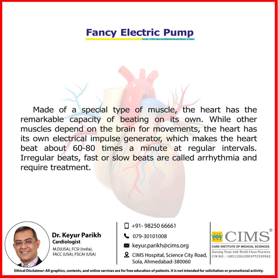Heart is a fancy electric pump!