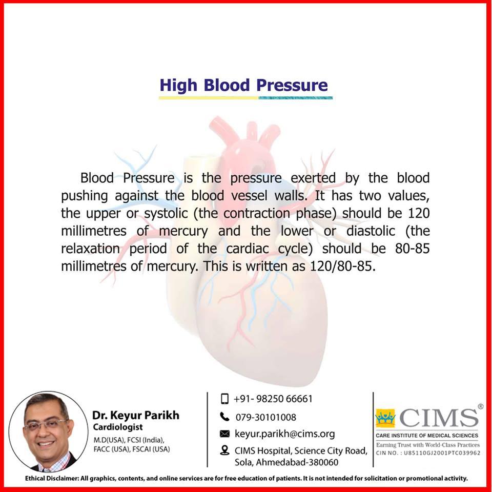 High blood pressure.