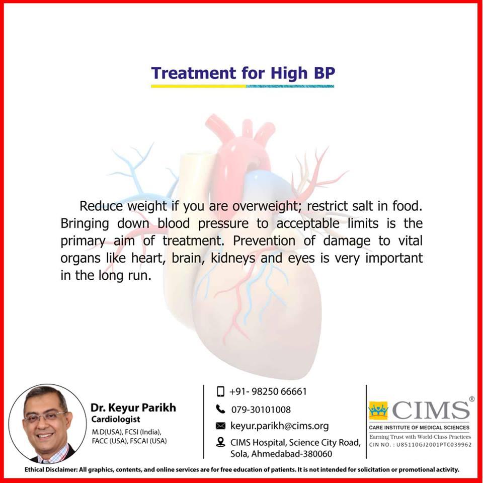 Treatment of HBP.