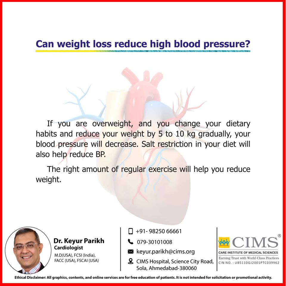 Can weight loss reduce high blood pressure?