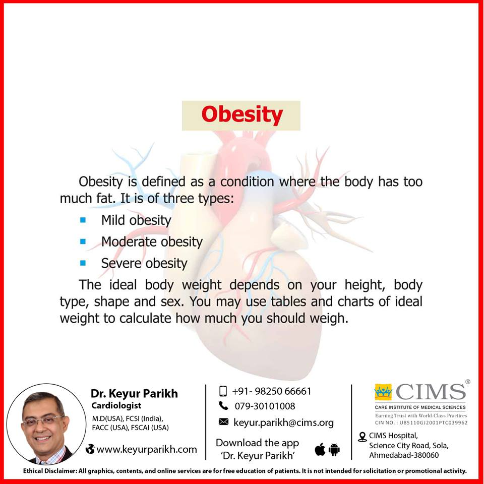 Obesity is not good for your heart!