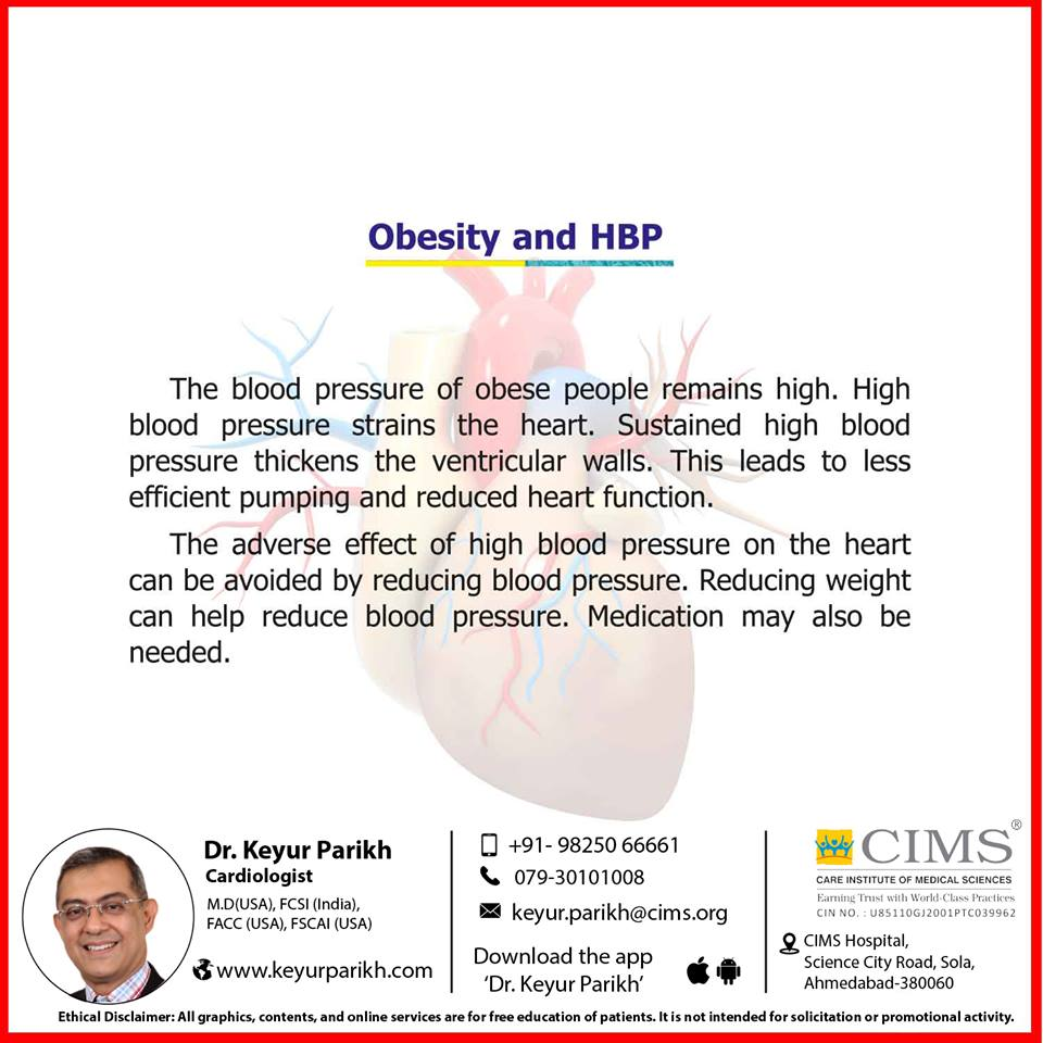 Obesity and high blood pressure.