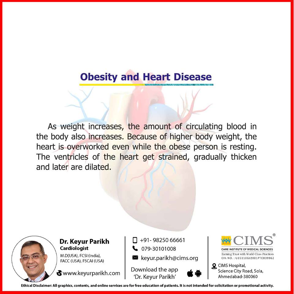 Obesity and heart disease.