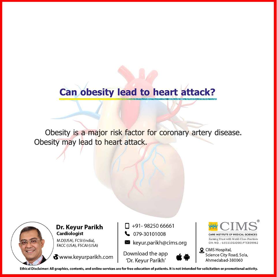 Can obesity lead to heart attack?