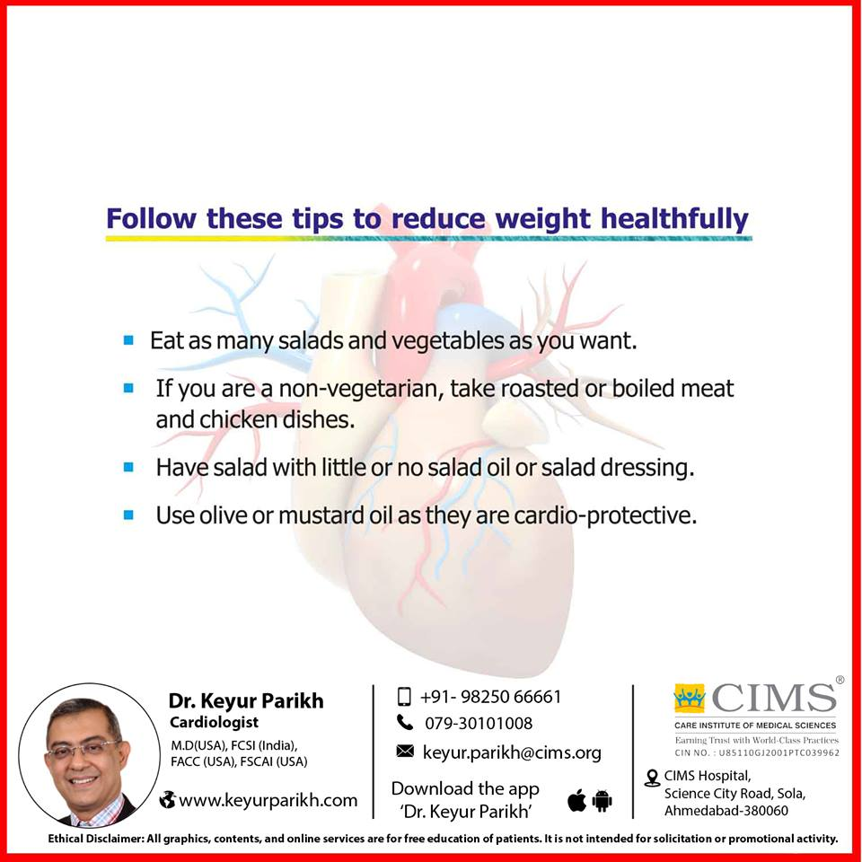 Follow these tips to reduce weight healthfully.