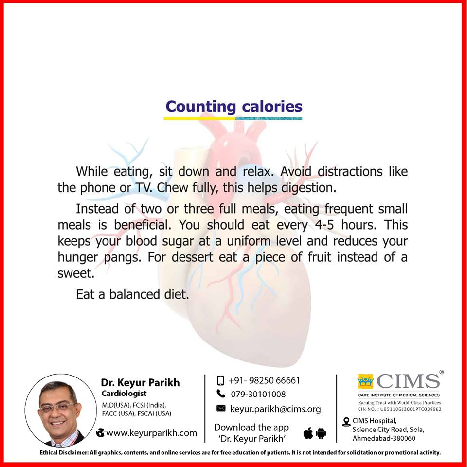 Counting calories.
