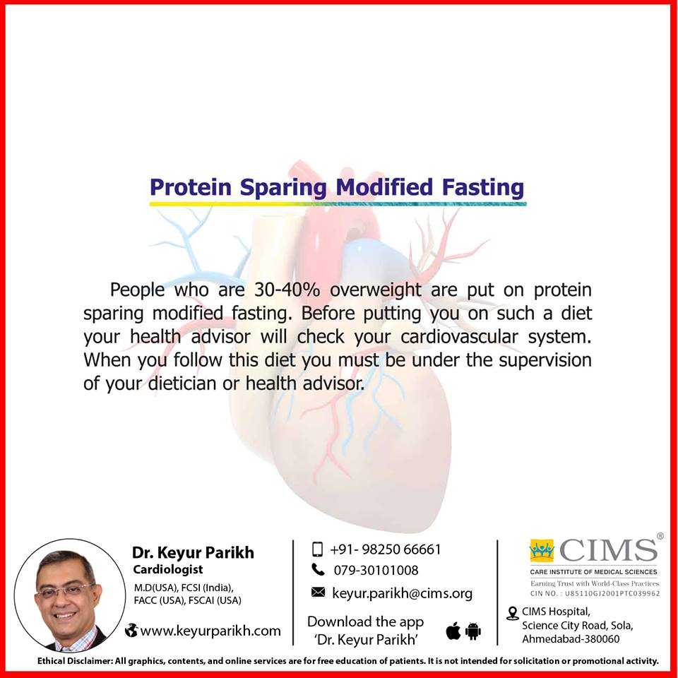 Protein sparing modified fasting.