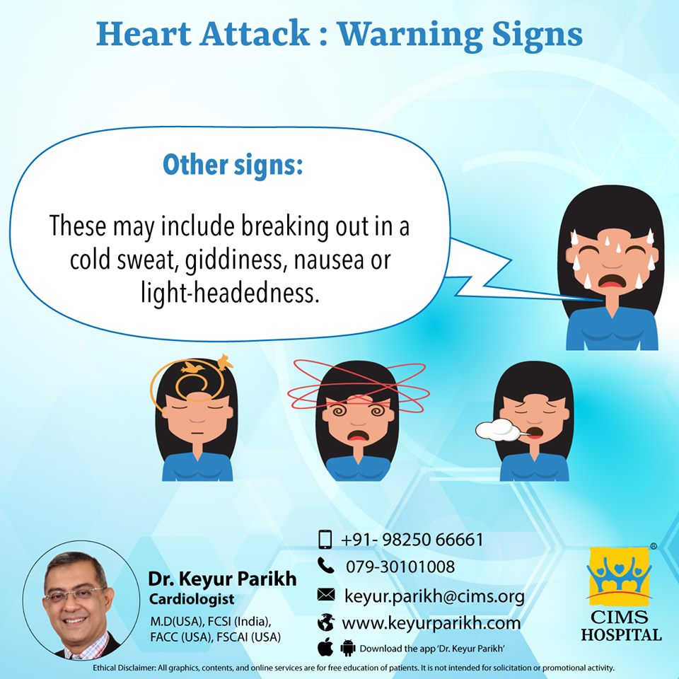 Warning signs of heart attack: Other signs.